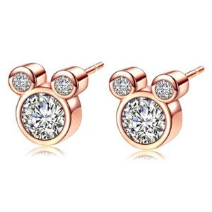 Jewelry - Brand New Minnie Mouse Rose Gold Earrings